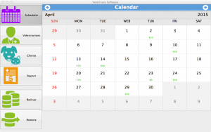 Veterinary Software for Mac - calendar