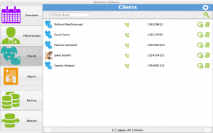 Veterinary Software for Mac - clients